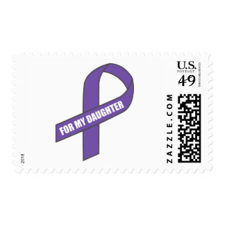 For My Daughter (Purple Ribbon) Stamp