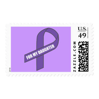 For My Daughter (Purple Ribbon) Postage Stamp