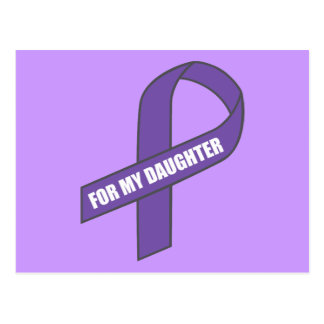 For My Daughter (Purple Ribbon) Postcards