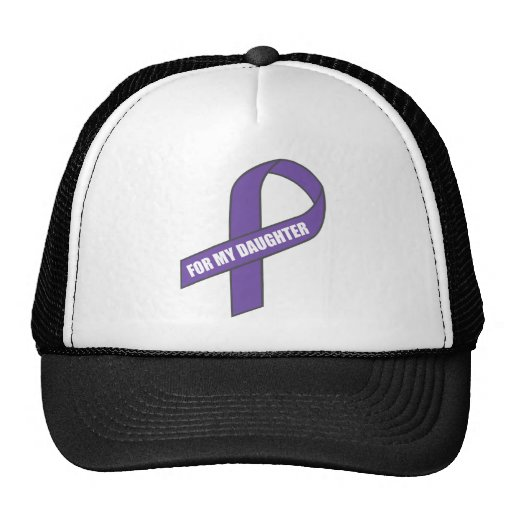 For My Daughter (Purple Ribbon) Trucker Hat