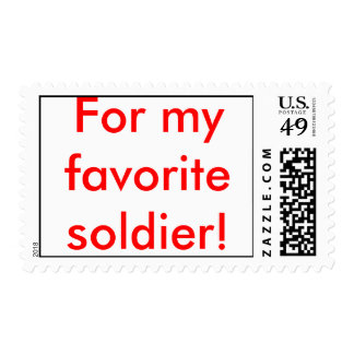 """For my favorite soldier!"" Postage stamp"