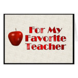 For My Favorite Teacher Cards