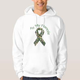 For My Fiancée Military  Ribbon Hoodie