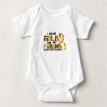 For My Friend Childhood Cancer Awareness Baby Bodysuit