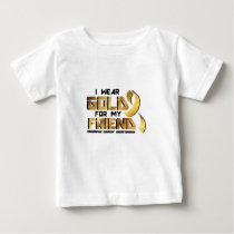 For My Friend Childhood Cancer Awareness Baby T-Shirt