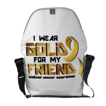 For My Friend Childhood Cancer Awareness Courier Bag