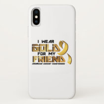 For My Friend Childhood Cancer Awareness iPhone X Case