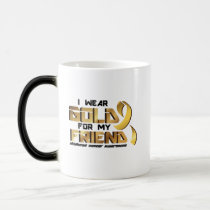 For My Friend Childhood Cancer Awareness Magic Mug
