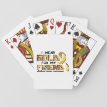 For My Friend Childhood Cancer Awareness Playing Cards