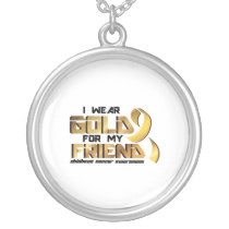 For My Friend Childhood Cancer Awareness Silver Plated Necklace