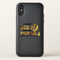 For My Friend Childhood Cancer Awareness Speck iPhone X Case
