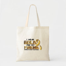 For My Friend Childhood Cancer Awareness Tote Bag