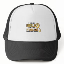 For My Friend Childhood Cancer Awareness Trucker Hat