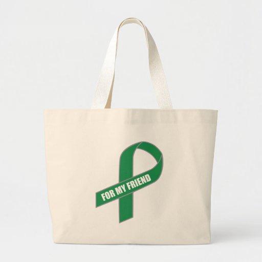 For My Friend (Green Ribbon) Jumbo Tote Bag