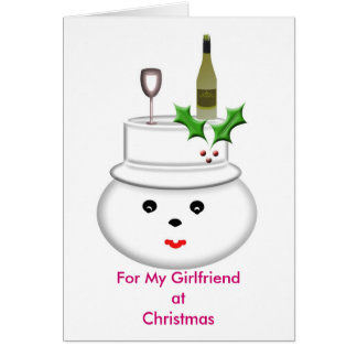 For My Girfriend at Christmas Card
