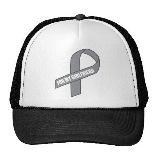 For My Girlfriend (Gray / Silver Awareness Ribbon) Trucker Hat