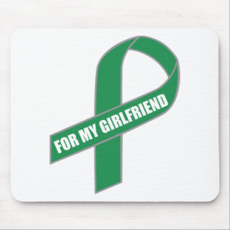 For My Girlfriend Green Ribbon Mouse Pad