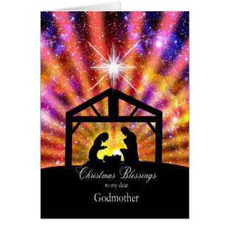 For my godmother Nativity at sunset Christmas Card