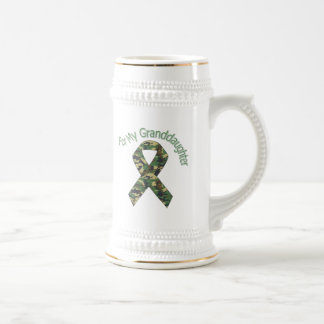 For My Granddaughter Military Ribbon Beer Stein