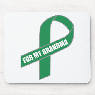 For My Grandma Green Ribbon Mousepad