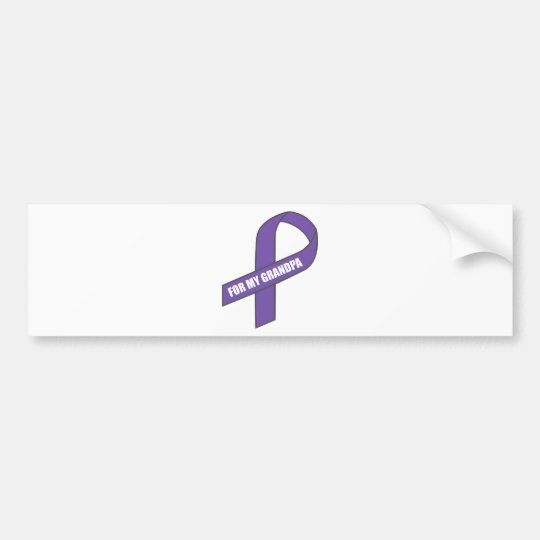 For My Grandpa (Purple Ribbon) Bumper Sticker
