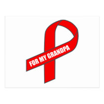 For My Grandpa (Red Ribbon) Postcard
