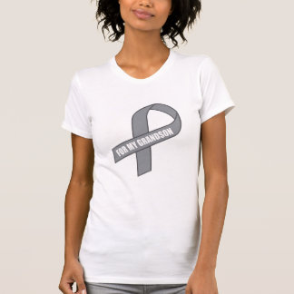 For My Grandson (Gray / Silver Awareness) T-Shirt