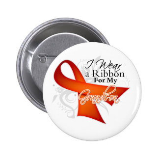 For My Grandson - Leukemia Ribbon Buttons