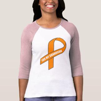 For My Grandson (Orange Ribbon) T-Shirt