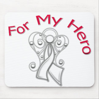 For My Hero Angel Ribbon Bone Cancer Mouse Pad