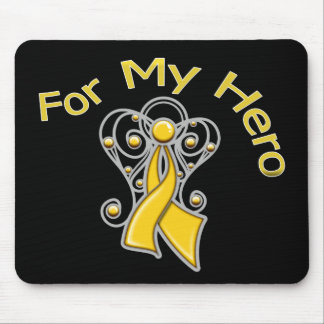 For My Hero Angel Ribbon Childhood Cancer Mouse Pad