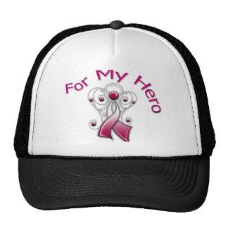 For My Hero Angel Ribbon Head Neck Cancer Mesh Hats