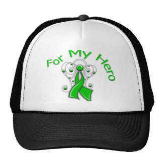 For My Hero Angel Ribbon Kidney Cancer Trucker Hat