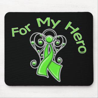 For My Hero Angel Ribbon Non-Hodgkin's Lymphoma Mouse Pad