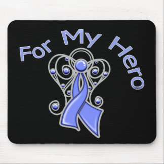 For My Hero Angel Ribbon Stomach Cancer Mouse Pad