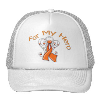 For My Hero Angel Ribbon v2 Kidney Cancer Trucker Hat