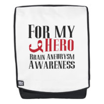 For my Hero Brain Aneurysm Awareness Gift Backpack