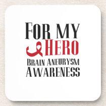For My Hero Brain Aneurysm Awareness Gift Beverage Coaster