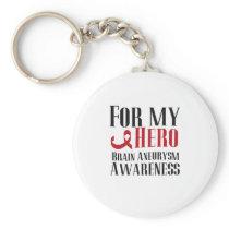 For My Hero Brain Aneurysm Awareness Gift Keychain