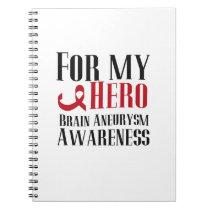 For My Hero Brain Aneurysm Awareness Gift Notebook