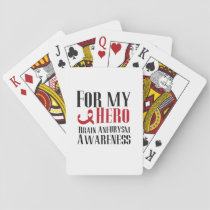 For my Hero Brain Aneurysm Awareness Gift Playing Cards