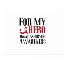 For My Hero Brain Aneurysm Awareness Gift Postcard