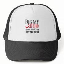 For My Hero Brain Aneurysm Awareness Gift Trucker Hat