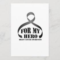For My Hero Brain Cancer Awareness Gift