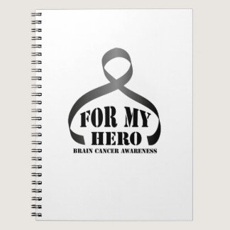 For my Hero Brain Cancer Awareness Gift Notebook