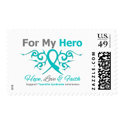 For My Hero - Hope Love Faith - Tourette Syndrome Postage Stamps