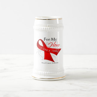For My Hero I Wear a Ribbon -  Blood Cancer 18 Oz Beer Stein