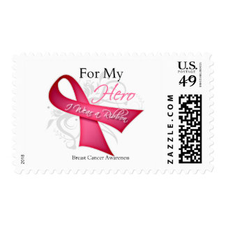 For My Hero I Wear a Ribbon Breast Cancer Stamps