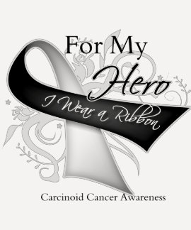 For My Hero I Wear a Ribbon Carcinoid Cancer T Shirts