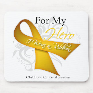 For My Hero I Wear a Ribbon Childhood Cancer Mouse Pad